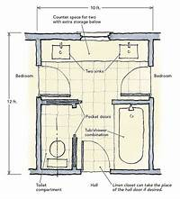 jack and jill bathroom floor plans 10 best Jack and Jill bathroom floor plans images on ...