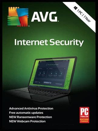 buy avg internet security  user  year license key pc