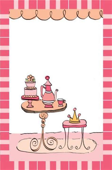 Princess Tea Party Invitation   Wiregrass Weddings