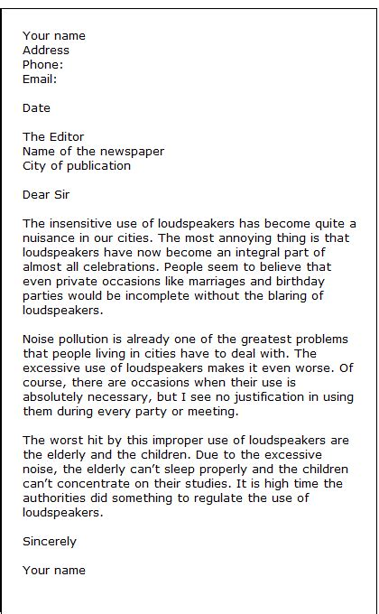 letter to the editor template letters to the editor format best template collection