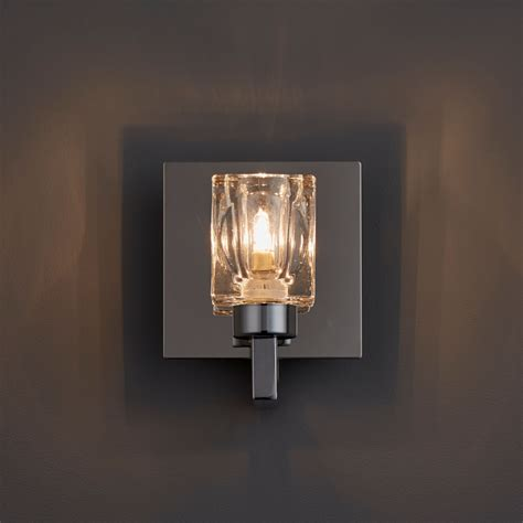 pia glass cube chrome effect wall light departments