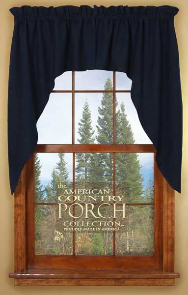 Blue Swag Curtains by Solid Navy Blue Window Curtain Swags