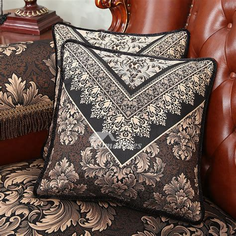luxury vintage floral  black throw pillows  couch