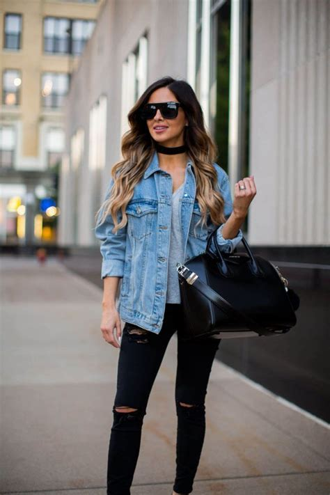 Dark Denim Jackets For Women Outfits   www.pixshark.com - Images Galleries With A Bite!