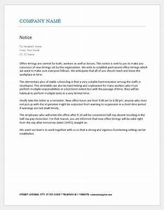 Cover Letters Administrative Assistant Notice To Staff For New Office Timings Word Excel