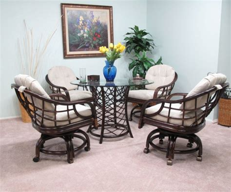 furniture brown wicker dining room chairs with
