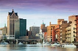 Downtown & Milwaukee River riverwalk from historic Third ...