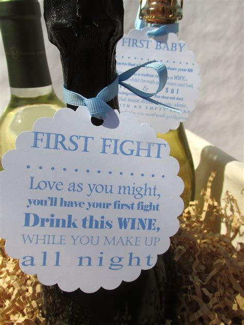 Wine Poem Bridal Shower - personalized wine poem tags bridal shower by