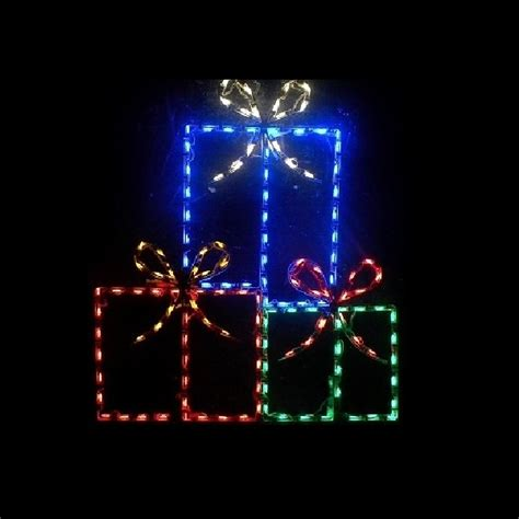 led outdoor christmas decorations lighted gift boxes