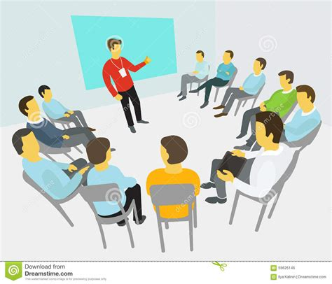 A Group Of People In Meeting Cartoon Pictures to Pin on