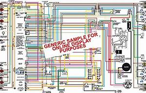 Full Color Laminated Wiring Diagram Fits 1970 Dodge