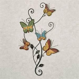 dancing butterflies metal wall art With butterfly wall art