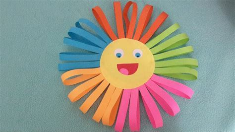 sun paper craft diy easy paper craft