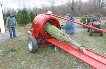 christmas tree bailer pete s tree farm gets ready for the season