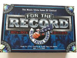 How much do you know about music? For The Record 80s and 90s Version Music Trivia Board Game 100% Complete | eBay