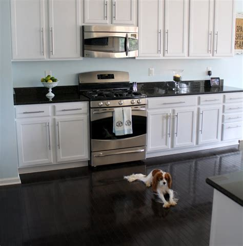black and white kitchen floor cool white kitchens with black floors 7853