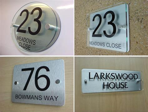 house number sign plaque modern frosted glass effect ebay