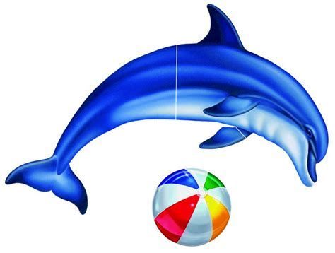 Pool Decal Single Dolphin Group Large for Vinyl Liner Pools
