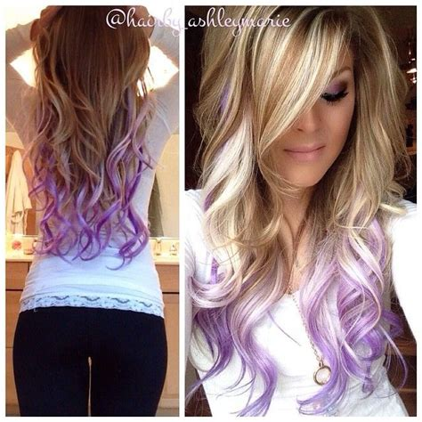Colorful Tips Dip Dyed Hair The Haircut Web