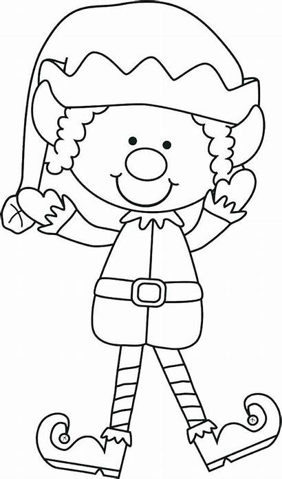 Elf Coloring Pages Printable Shelf