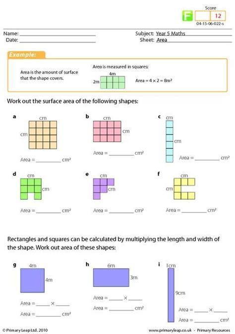 year 4 maths area worksheet maths printable worksheets