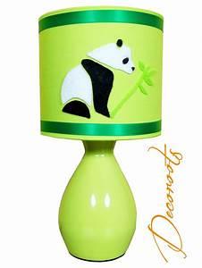 Lampe De Chevet Garçon : lampe de chevet enfant b b pampy le panda vert enfant ~ Dailycaller-alerts.com Idées de Décoration