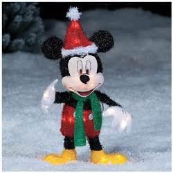 seasonal decor christmas 2 disney mickey mouse santa hat lighted christmas yard art decoration