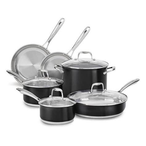 kitchenaid cookware stainless pots pans steel lids glass piece pc onyx accessories sets katom restaurant supply