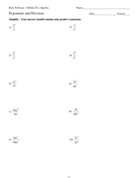 pre school worksheets 187 division exponents worksheets