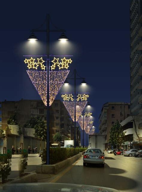 outdoor christmas street decorations city holiday lighting