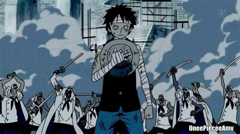 piece amv luffy marine ford tribute  ace