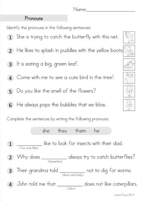 best 25 pronoun worksheets ideas