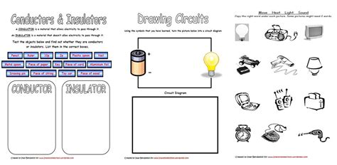 conductors and insulators for worksheets www