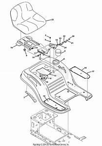 Troy Bilt 13wx79kt011 Horse  2013  Parts Diagram For Seat  U0026 Fender