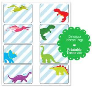 printable dinosaur name tags printable treats