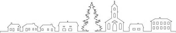christmas village trees silhouette template silhouette weihnachtsdorf silhouetten und kontur vektoren