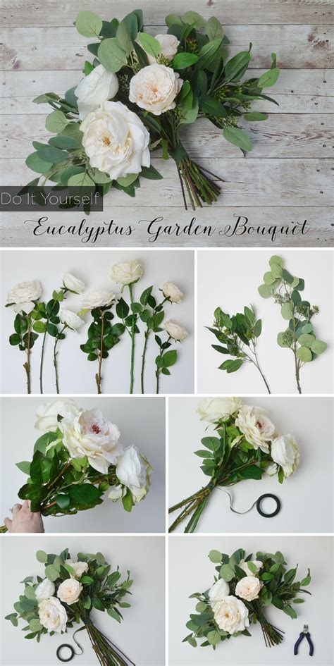 diy eucalyptus bouquet bridal bouquets diy wedding