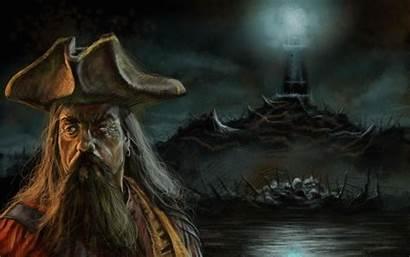 Pirate Wallpapers Pirates Blackbeard Captain Desktop Ship