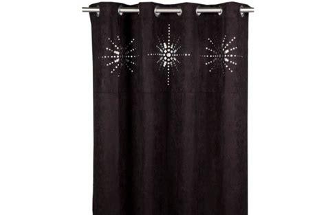 rideau 224 oeillet japonais noir 140x260 cm rideaux pas cher
