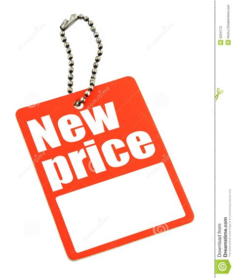 Price Of New by New Price Hang Tag On Chain Stock Image Image 6204173