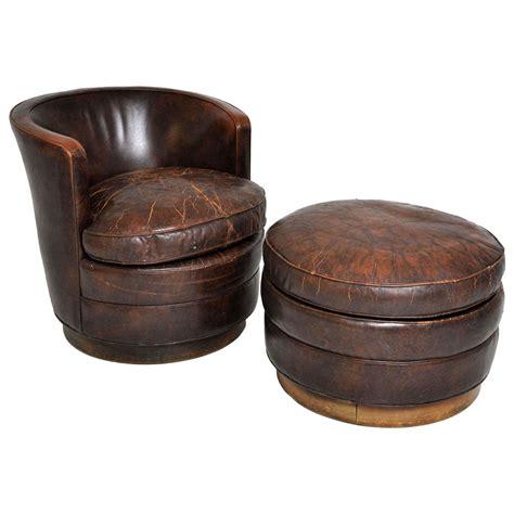 dunbar swivel lounge chair and ottoman at 1stdibs