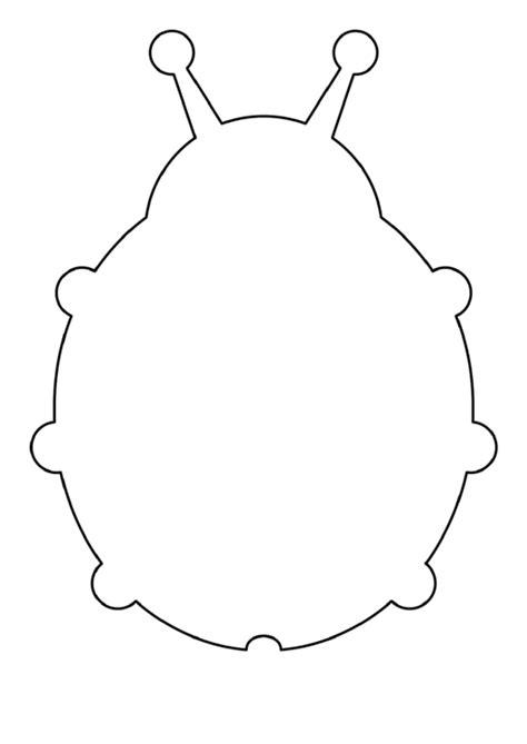 blank ladybug template printable