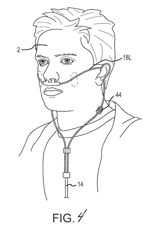 Nasal Airflow Diagram by Patent Us20120060845 Compliant Nasal Cannula