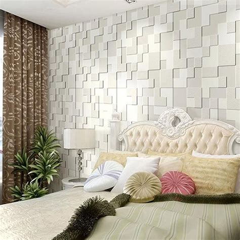 10m Modern Simple 3d Mosaic Living Room Nonwoven