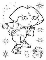 Dora Coloring Explorer Pages Quiet Printable Diego Adult Version Categories Entitlementtrap Cartoon sketch template