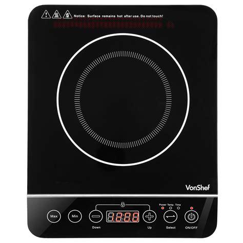 vonshef digital induction hob electric single hob touch control