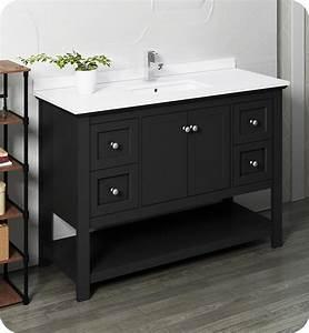 48, U0026quot, Traditional, Bathroom, Cabinet, With, Top, U0026, Sink