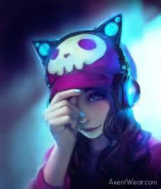 cat ear headphones yuumei axent wear modeling contest by yuumei on deviantart