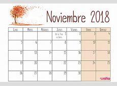 Noviembre Calendario escolar 20182019 para imprimir