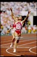 Florence Griffith-Joyner celebrates after winning the 100 meters... News Photo - Getty Images
